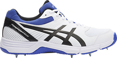 Asics Gel 100 Not Out Cricket Spikes WhiteOnyxBlue