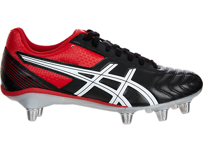 Right side view of LETHAL TACKLE™, BLACK/RACING RED/WHITE