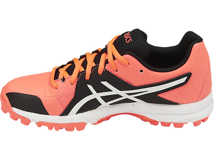 Left side view of GEL-HOCKEY NEO 4, Flash Coral/White/Black