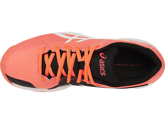 Top view of GEL-HOCKEY NEO 4, Flash Coral/White/Black