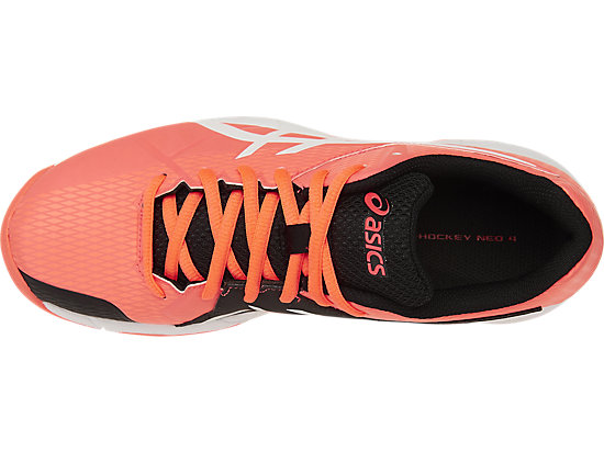 GEL-HOCKEY NEO 4 FLASH CORAL/WHITE/BLACK 15