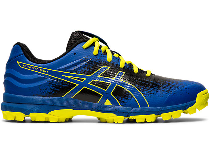 Right side view of GEL-HOCKEY TYPHOON 3, ASICS BLUE/BLACK