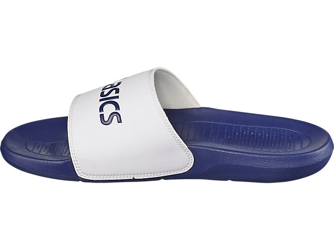 Left side view of AS003, INDIGO BLUE/WHITE