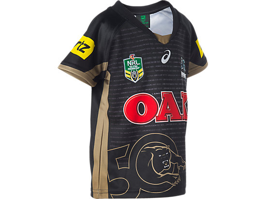 Penrith Panthers Replica Main Jersey - Infants Black / Lime Green / Yellow 7