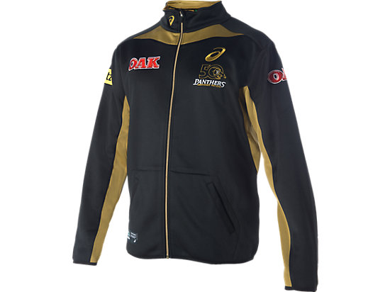 Penrith Panthers Training Travel Jacket Black / Lime Green / Yellow 3