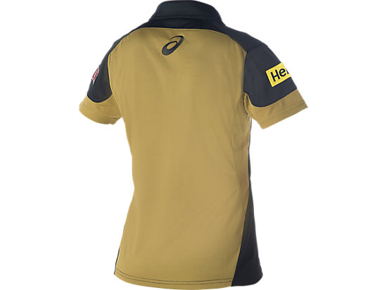 Penrith Panthers Media Polo - Womens Black / Lime Green / Yellow 7
