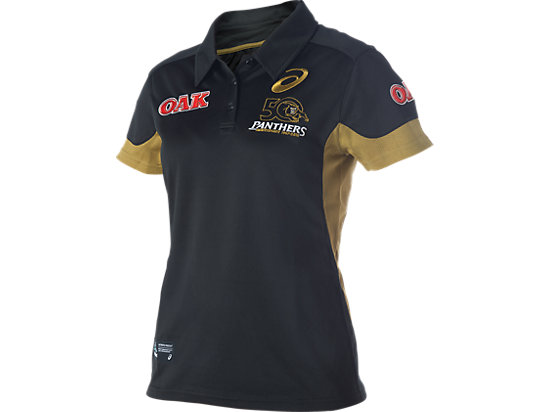 Penrith Panthers Media Polo - Womens Black / Lime Green / Yellow 3