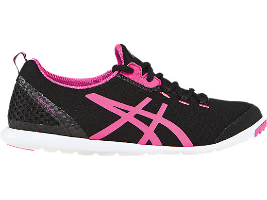 Asics Women Walking Shoes Metrolyte Tiger White Black Flash Pink Colour
