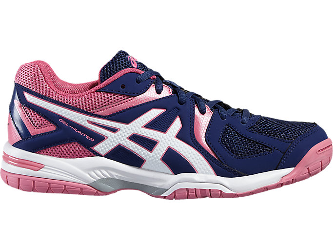 Front Right view of GEL-HUNTER 3, INDIGO BLUE/WHITE/AZALEA PINK
