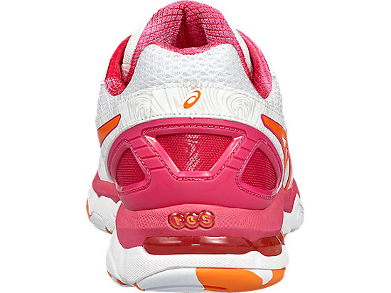 GEL-NETBURNER SUPER 7 WHITE/ORANGE POP/SPORT PINK 19