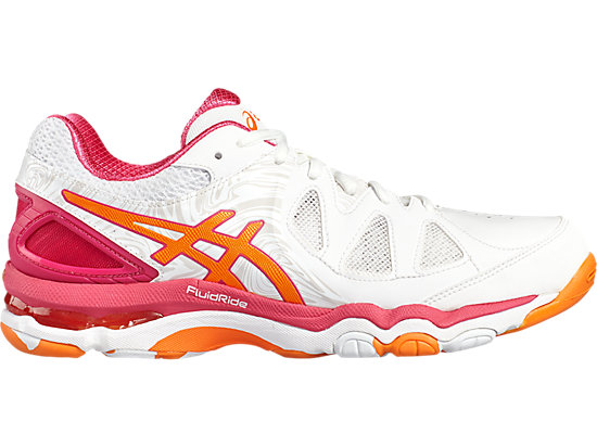 GEL-NETBURNER SUPER 7 WHITE/ORANGE POP/SPORT PINK 3