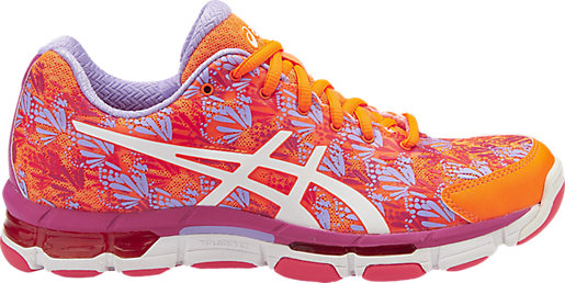 Back to Womens Netball Shoes. GEL-Netburner Professional 13  Shocking/Orange/White/Sport Pi 3 RT