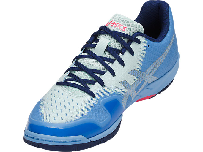 Front Left view of GEL-BLADE 6, BLUE BELL/SILVER