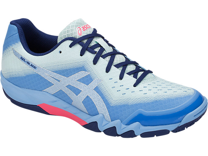 Front Right view of GEL-BLADE 6, BLUE BELL/SILVER