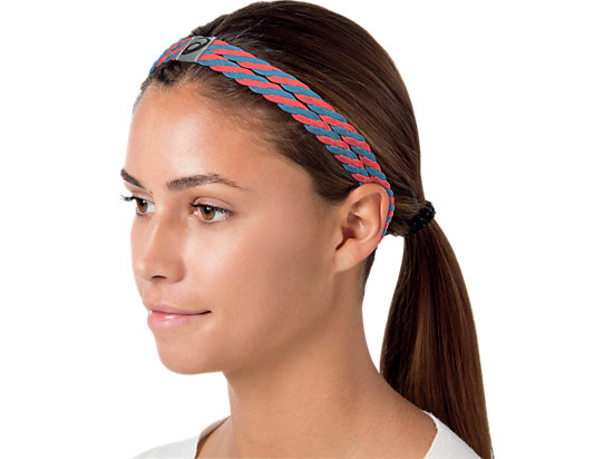 Studio Luxe Headband Slate Blue/Coral Rose 11