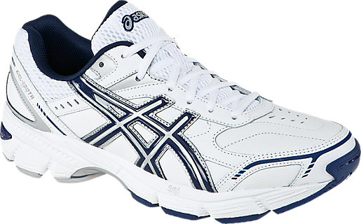GEL-180 TR Leather (4E) White/Navy/Silver 3 FR