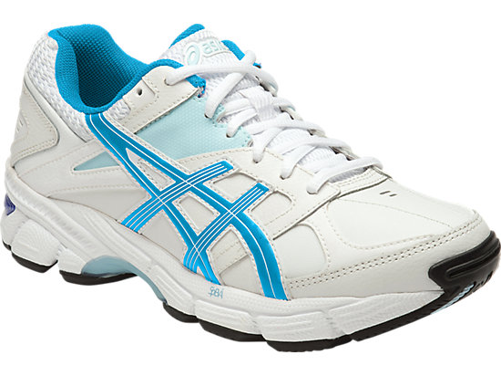 GEL 190TR LEATHER (2E) WHITE/IMPERIAL/BLUE GLOW 3