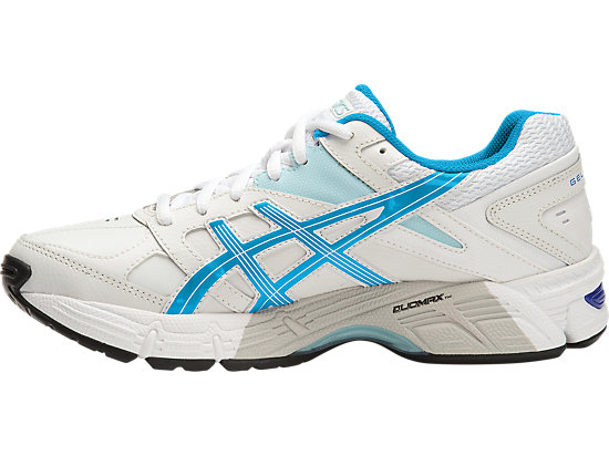 GEL 190TR LEATHER (2E) WHITE/IMPERIAL/BLUE GLOW 11
