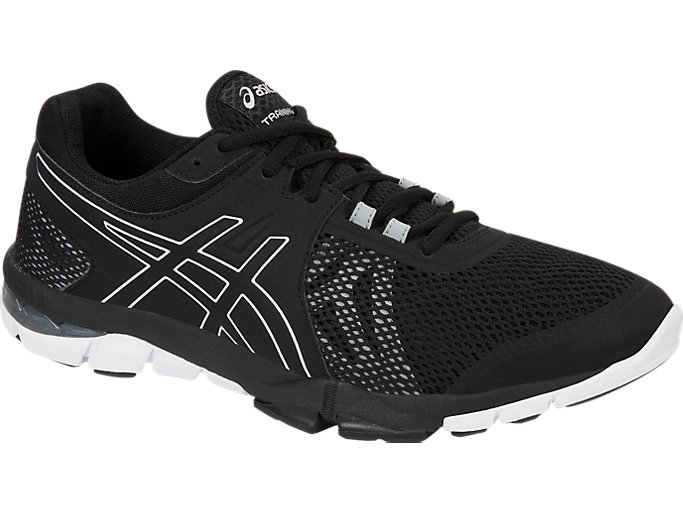 Front Right view of GEL-CRAZE TR 4, Black/Onyx/White