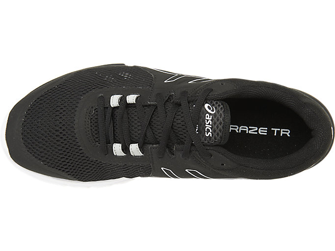 Top view of GEL-CRAZE TR 4, BLACK/ONYX/WHITE