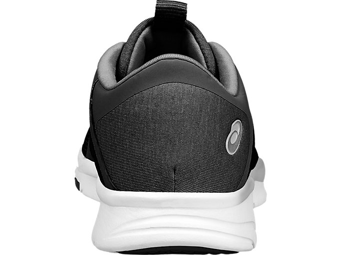 Back view of GEL-FIT TEMPO 3, BLACK/SILVER/WHITE