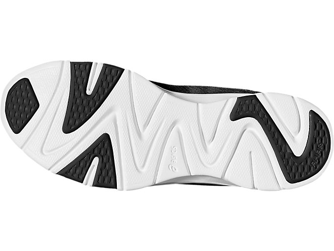 Bottom view of GEL-FIT TEMPO 3, BLACK/SILVER/WHITE