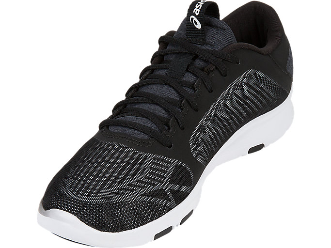 Front Left view of GEL-FIT TEMPO 3, BLACK/SILVER/WHITE