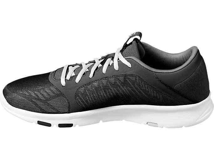 Left side view of GEL-FIT TEMPO 3, BLACK/SILVER/WHITE