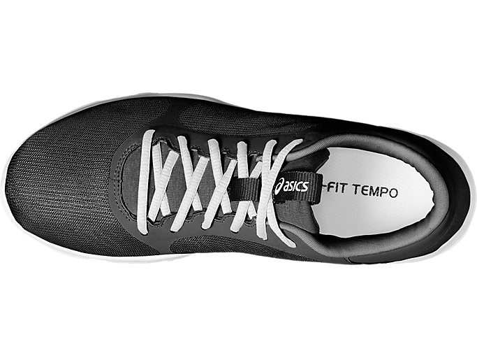 Top view of GEL-FIT TEMPO 3, BLACK/SILVER/WHITE