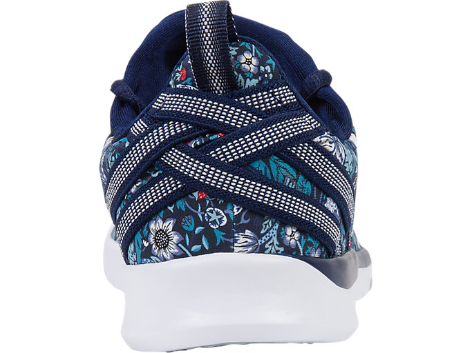 Back view of GEL-FIT SANA3 (LIBERTY), INDIGO BLUE/WHITE/MID GREY