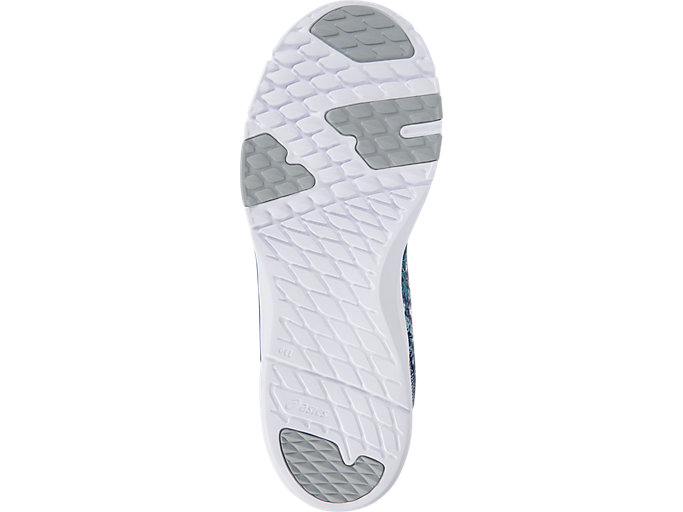 Bottom view of GEL-FIT SANA3 (LIBERTY), INDIGO BLUE/WHITE/MID GREY