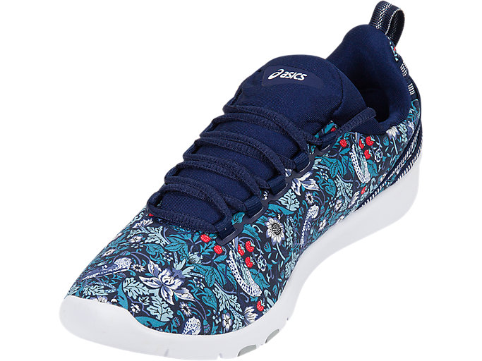 Front Left view of GEL-FIT SANA3 (LIBERTY), INDIGO BLUE/WHITE/MID GREY
