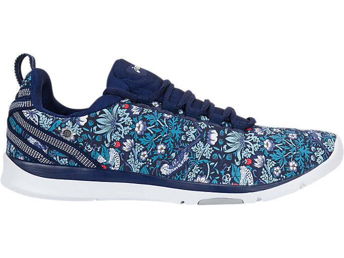 Right side view of GEL-FIT SANA3 (LIBERTY), INDIGO BLUE/WHITE/MID GREY
