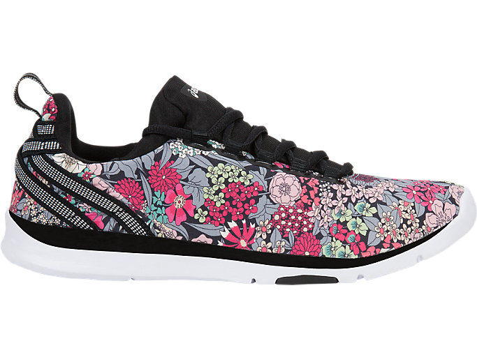 Right side view of GEL-FIT SANA3 (LIBERTY), BLACK/WHITE/BLACK