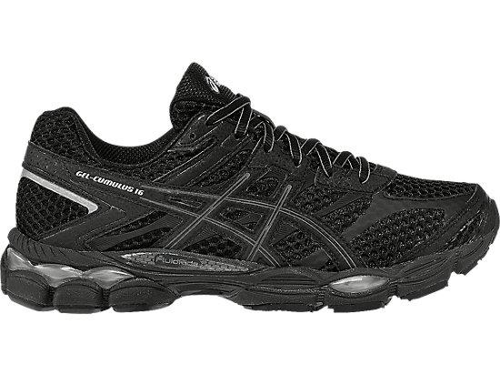 Asics Running Shoes Silver Black Gel Cumulus 16 Onyx Mens