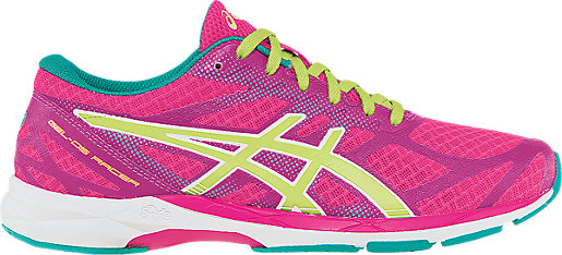 ASICS Women GEL DS Racer 10 Hot Pink/Sunny Lime/Emerald Running Shoes