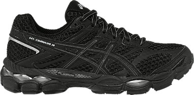 WOMENS ASICS FLUIDRIDE GEL Cumulus 16 Breathable Light Running Trainers Size 5.5