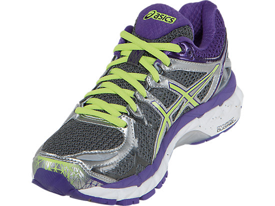GEL-Kayano 21 (D) Charcoal/Sharp Green/Purple 11