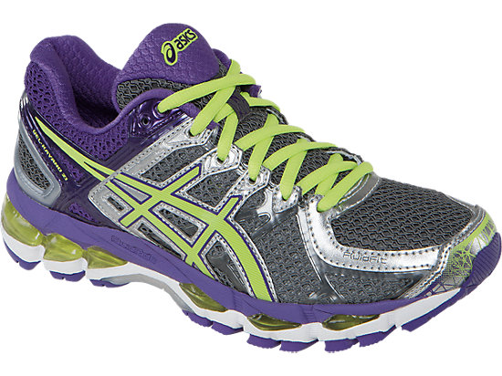 GEL-Kayano 21 (D) Charcoal/Sharp Green/Purple 7
