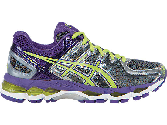 GEL-Kayano 21 (D) Charcoal/Sharp Green/Purple 3