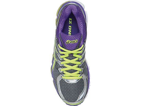 GEL-Kayano 21 (D) Charcoal/Sharp Green/Purple 23