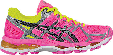 big sale 2407e 2e8dc GEL-Kayano 21 LITE-SHOW Hot Pink Lite Safety Yellow 3 RT