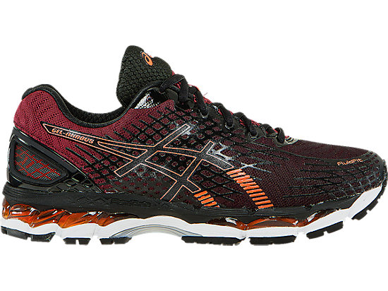 asics gel nimbus black orange