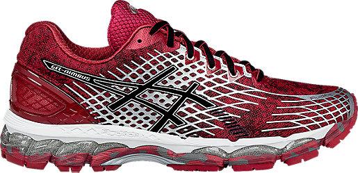 ASICS Men GEL Nimbus 17 Scarlet/Black/Grey Running Shoes