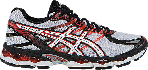 ASICS Men's GEL-Evate 3 Running Shoes AS-58363714 Lightning/White/Red