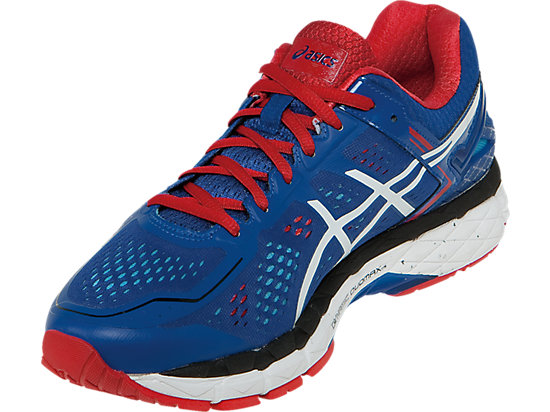 GEL-Kayano 22 Blue/White/Fiery Red 11