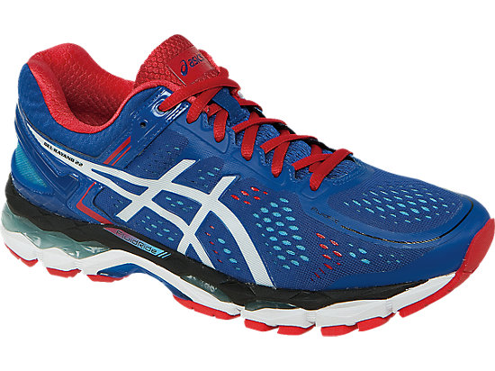 GEL-Kayano 22 Blue/White/Fiery Red 7