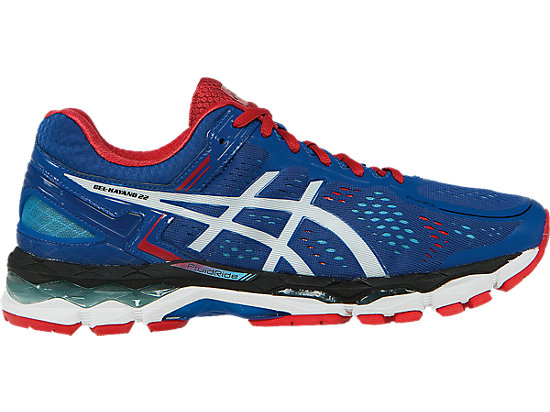 GEL-Kayano 22 Blue/White/Fiery Red 3