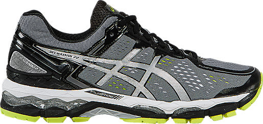 GEL-Kayano 22 (2E) Charcoal/Silver/Lime 3 RT