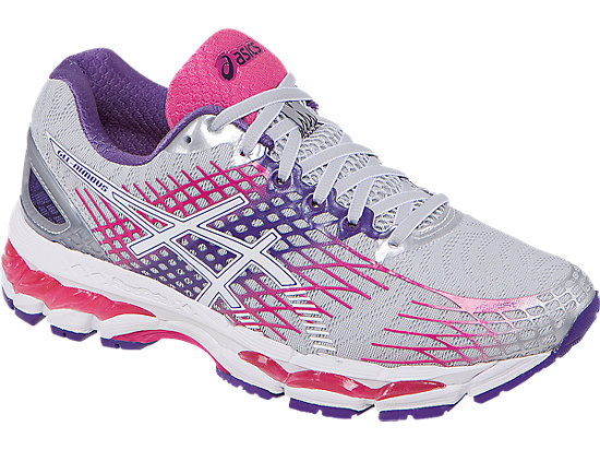 asics womens gel kayano 19 - pink/lightning/black